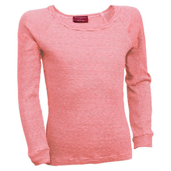 Kids L/S Thermal Top - Pink Stripe
