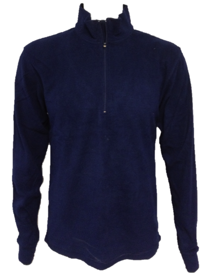 Mens Microfleece 1/2 Zip Top - Navy