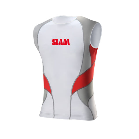 Slam Sleeveless Rash Shirt - White/Red
