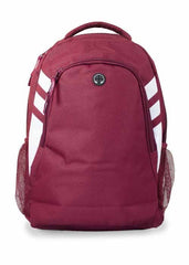 Tasman Backpack - Maroon/White