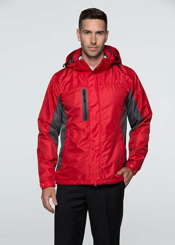 Sheffield Mens Outdoor Jacket - Red/Grey