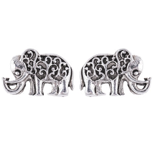 Filigree Elephant Stud Earrings
