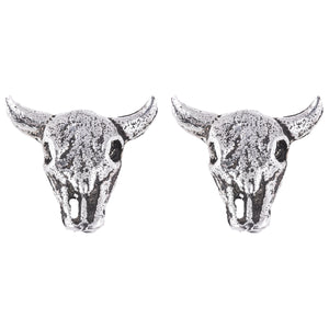 Bull Skull Stud Earrings