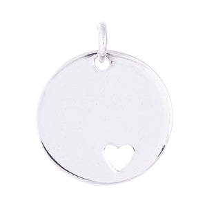 Heart Disk Pendants