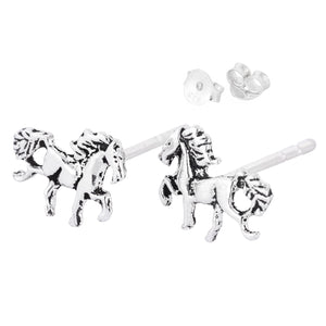 Prancing Horse Stud Earrings