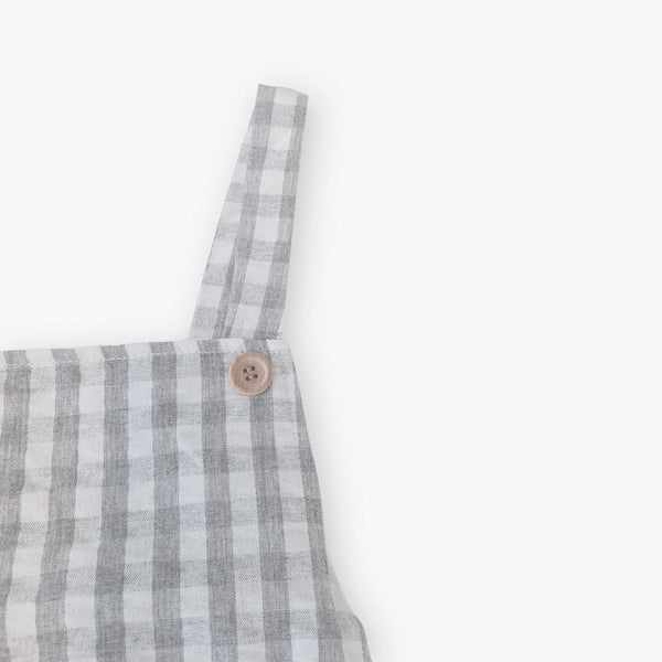 Avery Gingham Overalls