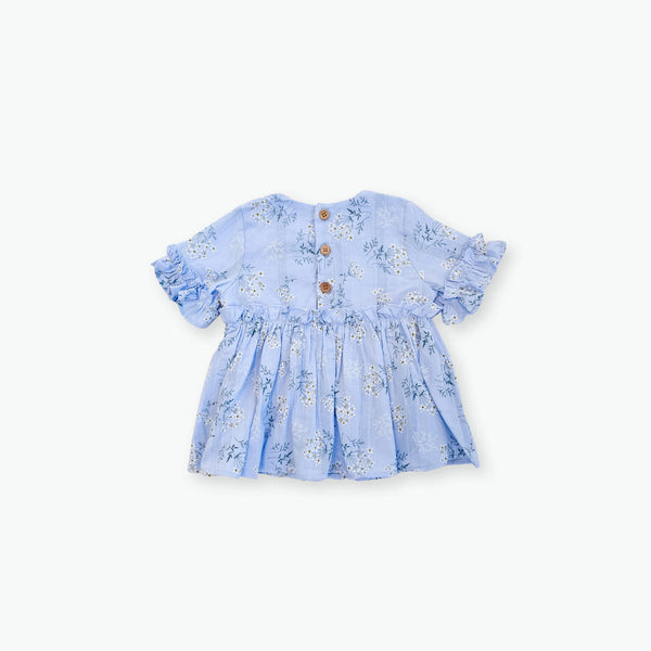 Leah Floral Top - Blue