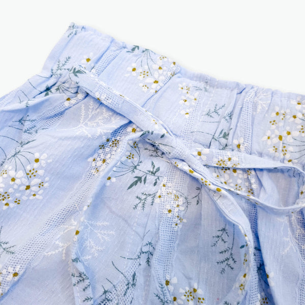 Leah Floral Shorts - Blue