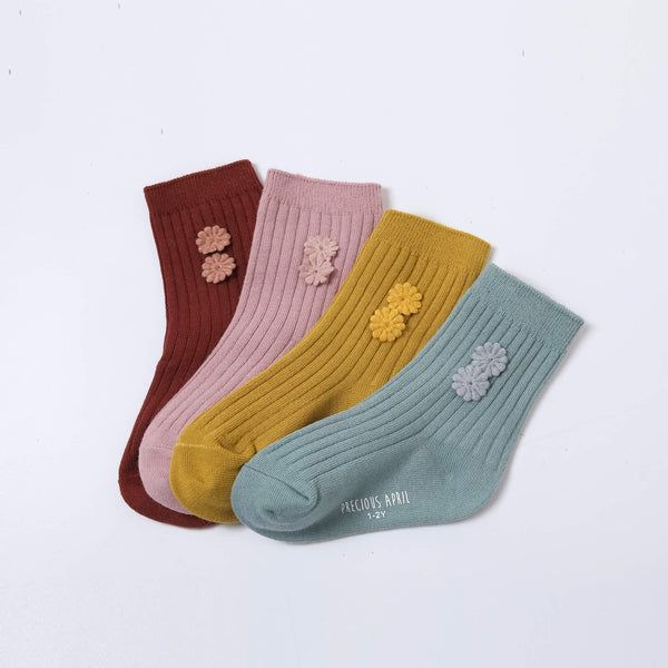 Mila Socks with Handcrafted Flowers