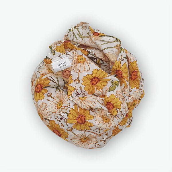 Organic Muslin Wraps - Sunflowers