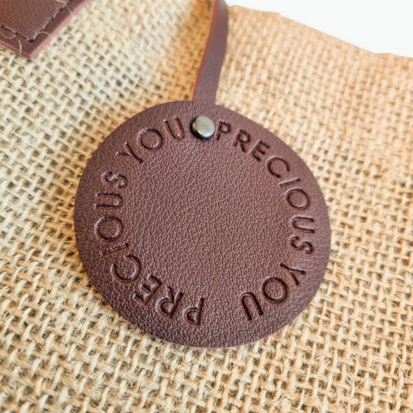 Precious You Leather Logo Tote (Small)