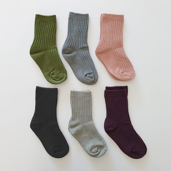 Skyler Cotton Socks Set (6 Colours)