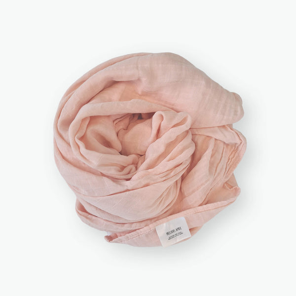 Organic Muslin Wraps - Blossom Pink