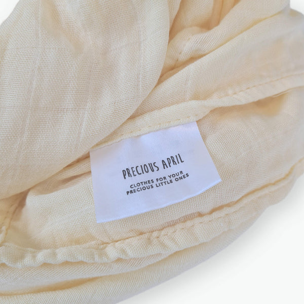 Organic Muslin Wraps - Buttermilk
