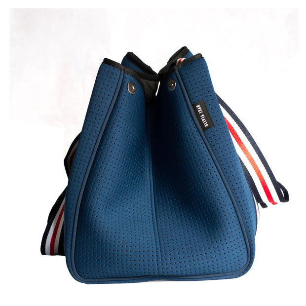 Aria (Navy) Neoprene Tote Bag