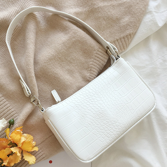 Tori Mini Shoulder Bag (White)