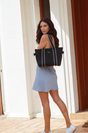 Harper (Black) Small Neoprene Tote/Crossbody Bag