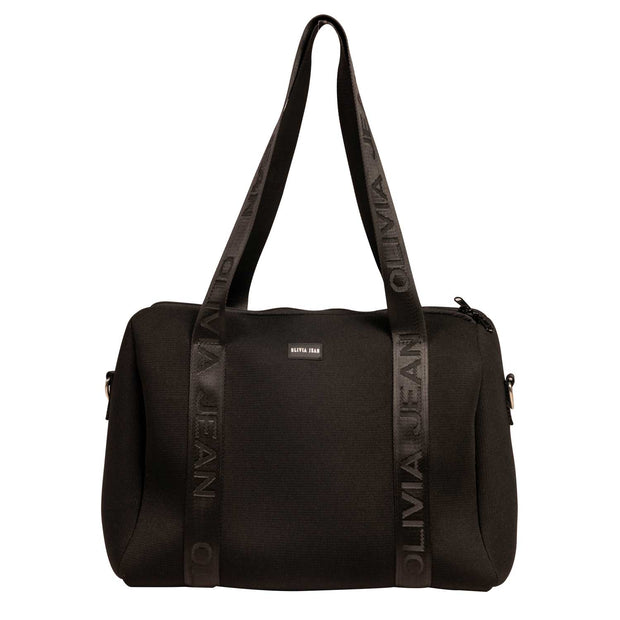Manhattan Grey Neoprene Tote Bag- With Zip Closure