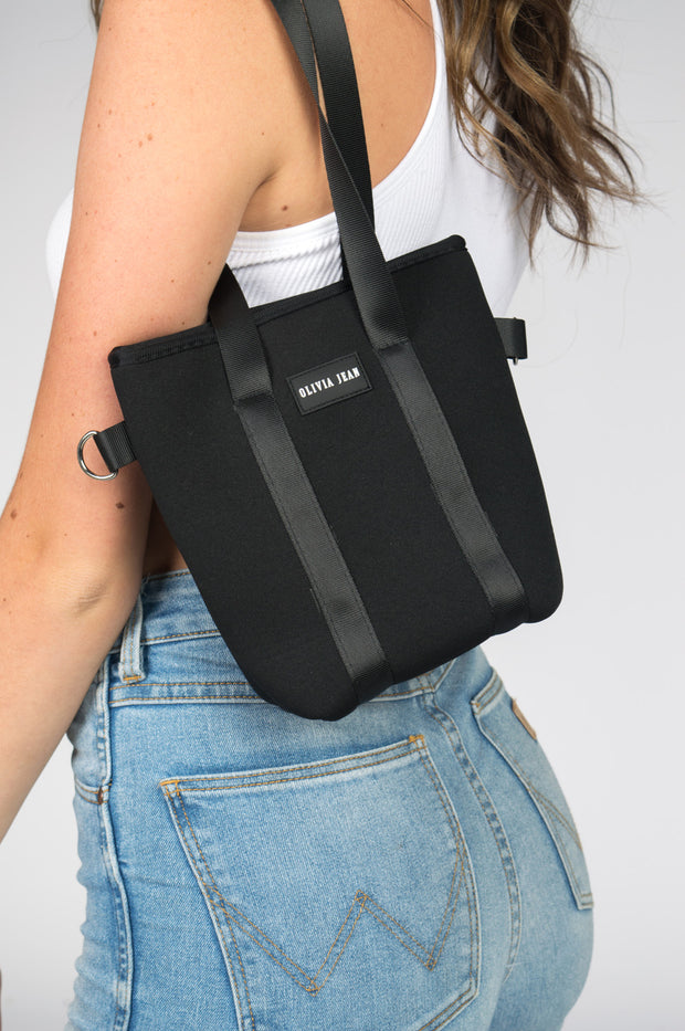 Cleo (Black) Mini Neoprene Bag