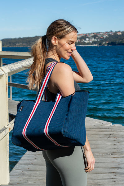 Aria (Navy) Gym/Beach/Nappy Neoprene Tote Bag