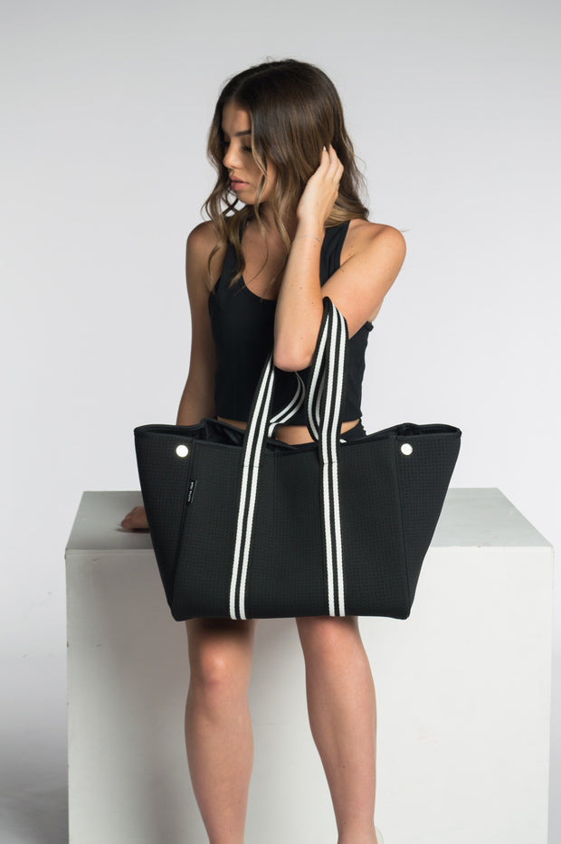 Aria (Black) Neoprene Tote Bag