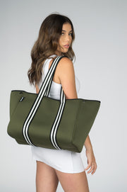 Aria (Khaki) Gym/Beach/Nappy Neoprene Tote Bag