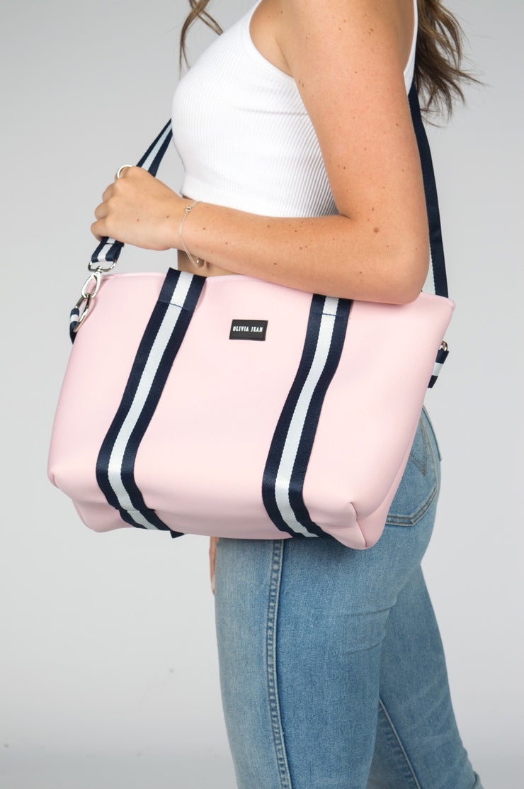 Harper (Pink) Small Neoprene Tote/Crossbody Bag