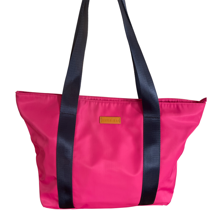 Manhattan (Baby Pink) Neoprene Tote Bag- With Zip Closure