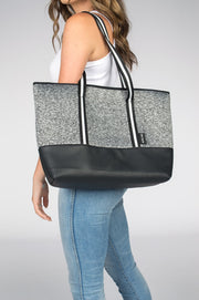 Parker (Dark Marle Grey) Neoprene Tote Bag