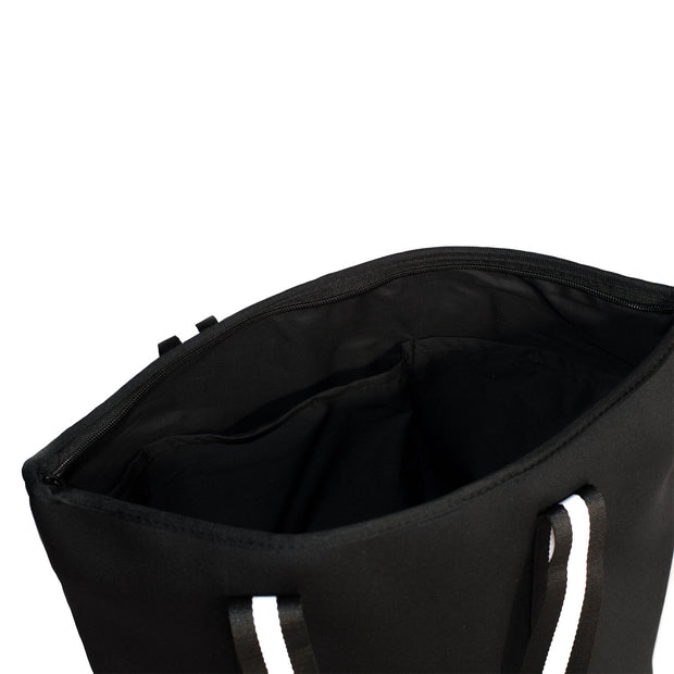 Manhattan (Black) Neoprene Tote Bag- With Zip Closure
