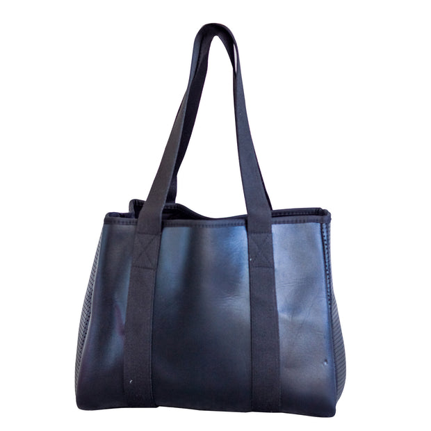 Frankie (Metallic Black) Work/Nappy/Uni Neoprene Tote Bag