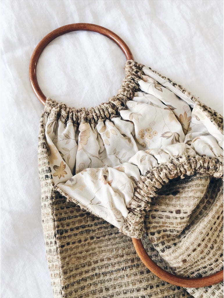 DIY summer bag, handmade bag, recycled bag,