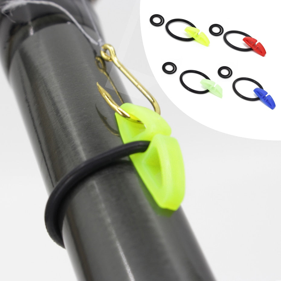 YINGTOUMAN 1 Set/lot  Hook Secure Keepers Holders Lures Jig Hooks Safe Keeping for Fishing Rod