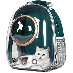 Astronaut Bubble Transparent Outdoor Carrying Cat Travel Bag Breathable Space Capsule Carrier Pet backpack For Small Cat Dog