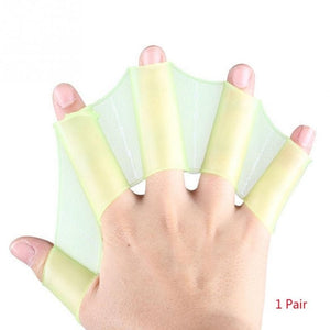 1Pair Hot Sale Unisex Frog Type Silicone Girdles Swimming Hand Fins Flippers Palm Finger Webbed Gloves Paddle Water Sports ~3