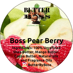 Boss Pear Berry as Compared to Bath & Body Works Pear Berry - Butter By Boss
