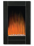 67502- Wall Mount Black Bevel Edge Fireplace