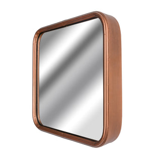 Industrial Square Copper Finished Mirror