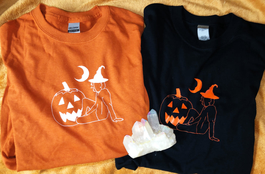 Pumpkin Witch tee shirt