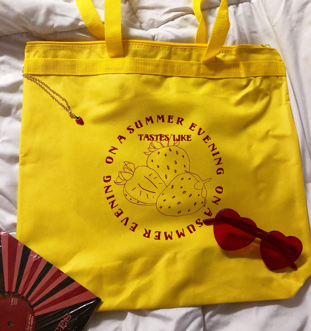 Summer Strawberry tote bag