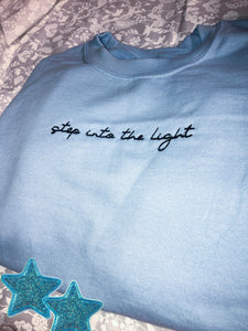 Into the Light crewneck sweatshirt