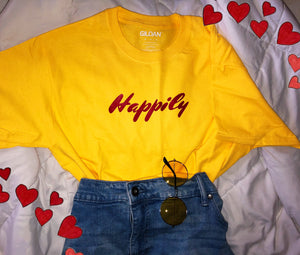 Happily tee shirt
