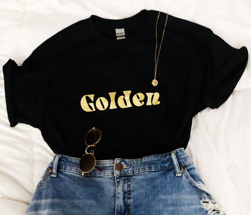 Golden tee shirt