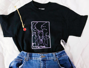 The Moon tarot tee shirt