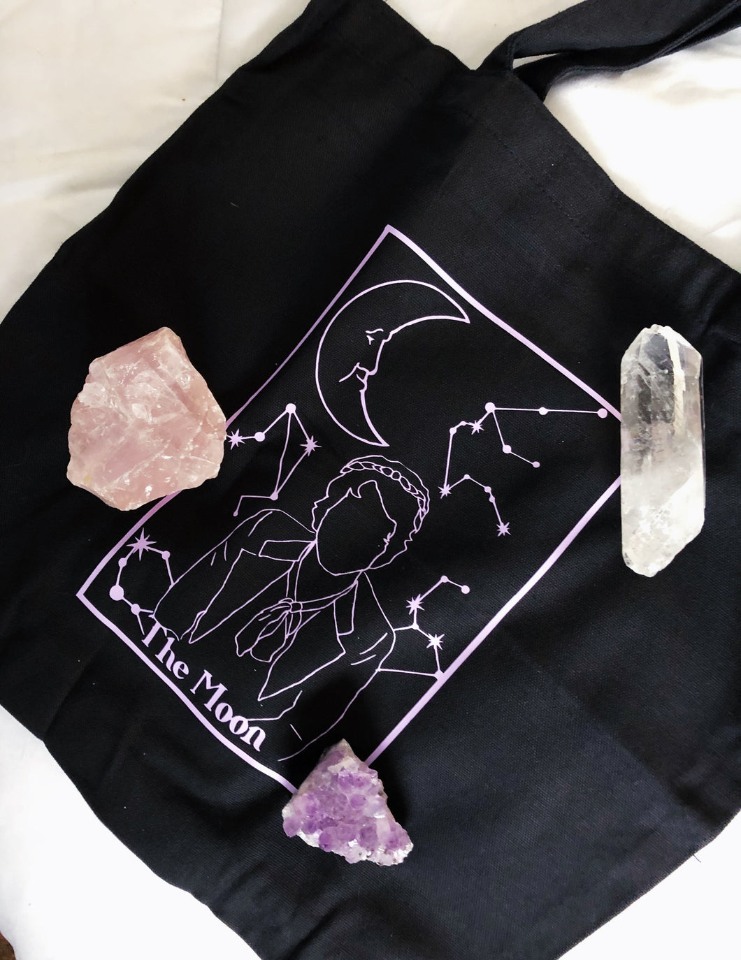The Moon tarot tote bag