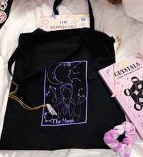 Load image into Gallery viewer, The Moon tarot tote bag