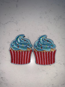 Flair Patches - Cupcakes Blue Frosting