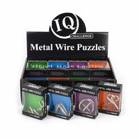 Metal wire puzzles: set of 4