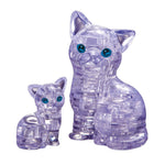 Crystal Puzzle Cat & Kitten Clear 49pcs