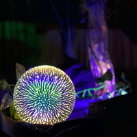 3D Pattern Glass Lamp